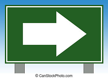 Directional highway sign