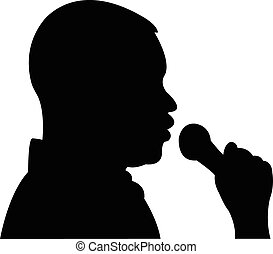 a man talking to microphone at interview