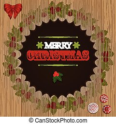 Christmas wooden cut out border