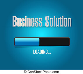 Business Solution loading bar sign concept illustration...