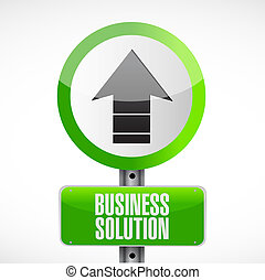Business Solution road sign concept illustration design...