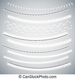 White Christmas Electric Garlands Set for Celebratory...