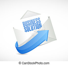 Business Solution mail sign concept illustration design...