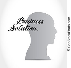 Business Solution brain sign concept illustration design...