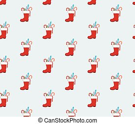 Santa clause boot pattern