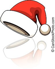 santa-clause-hat - Cartoon santa clause hat vector