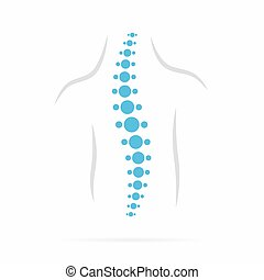 Spine diagnostics symbol design - Vector logo or icon design...