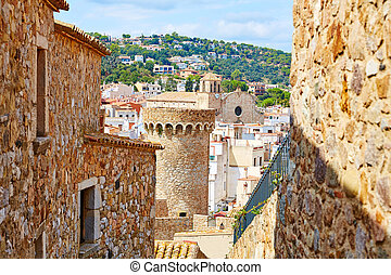 Tossa de Mar old town Vila Vella in Costa Brava of Catalonia...