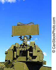 Anti-aircraft defense system - Container with missiles and...