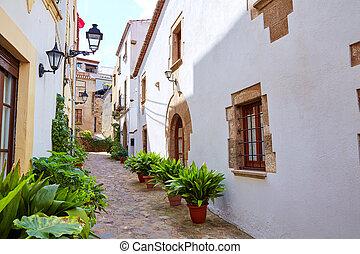 Tossa de Mar old town Vila Vella in Costa Brava of Catalonia...