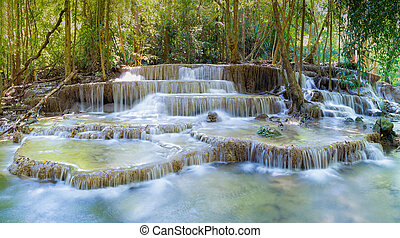 Deep forest water fall - Beautiful of Deep forest water fall...