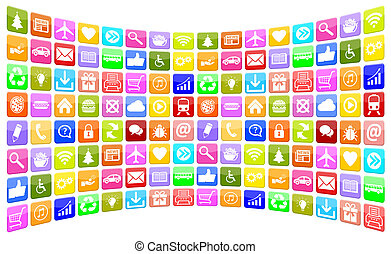 Application Apps App Icon Icons collection for mobile or smart phone