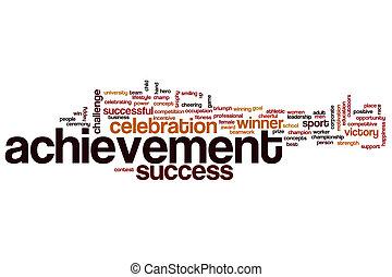 Achievement word cloud concept