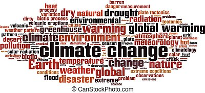 Climate change-horizon Convertedeps - Climate change word...