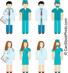 Doctors And Surgeons - Male and female doctor and surgeon...