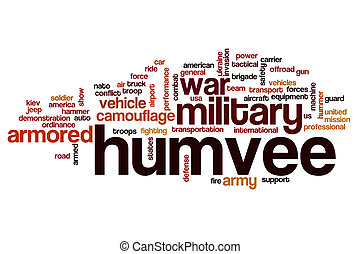Humvee word cloud concept - Humvee word cloud