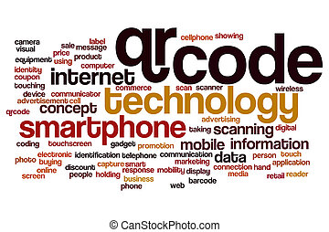 QR code word cloud concept - QR code word cloud