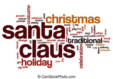 Santa Claus word cloud concept