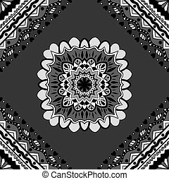 seamless black pattern - Vector seamless black and white...