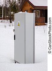 power distribution locker in snow