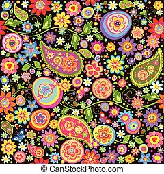Easter colorful wallpaper with mankolam