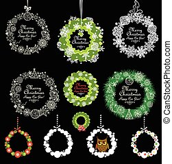 Collection of Xmas vintage decorations