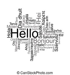 Hello Tag Cloud in different languages