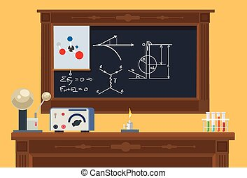 Math class Vector flat illustration
