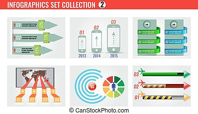 Celloction of infographics icons and symbol set number 2