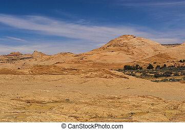 Sandstone Rock Grand Staircase Utah - Slickrock sandstone in...