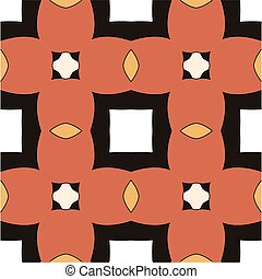 Children abstract ethnic pattern with bright interwoven...