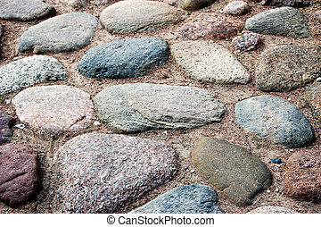 Cobblestones - The road covered with stones