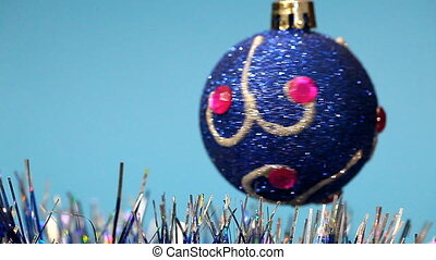 Christmas decoration rotates - Christmas Toy rotates on a...