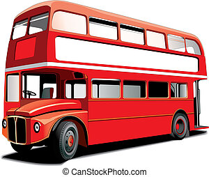 Double decker bus - London double decker bus isolated on...