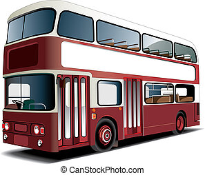 Double-decker bus - English double decker bus isolated on...
