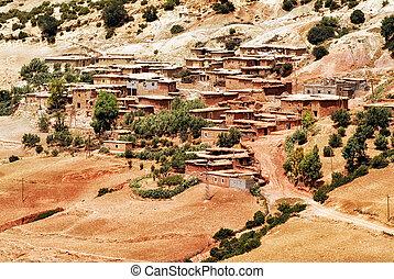 Bedouin village in Atlas mountains, Sahara, Morocco