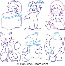 Babys things set vector illustration cartoon