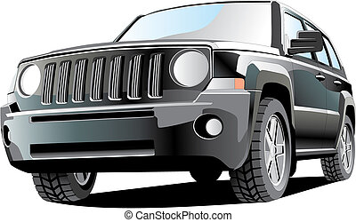 jeep - vectorial image of jeep