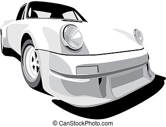 Porsche - Vectorial image of Porsche 911 1973 year