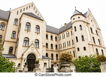 Theological college in Gyor, Hungary. Architectural theme.