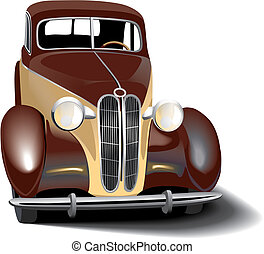 retro car - Vectorial image of vintage car. Contains...