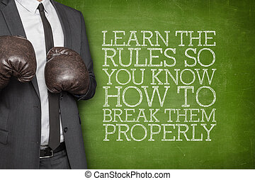 Learn the rules so you know how to break them properly on...