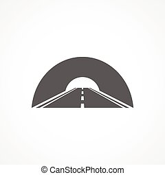 Tunnel icon on white background