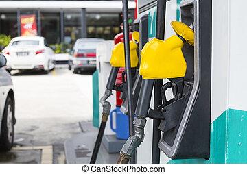 Fuel pump ,self service station.