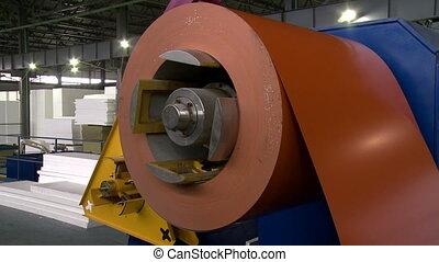 Manufacturing workshop Modern machine, close-up -...