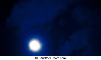 Full moon in Moonlight night