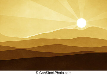 brown landscape background - An abstract brown landscape...