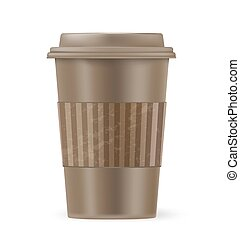 brown cup of coffee to go