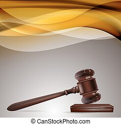 justice background with wooden gavel