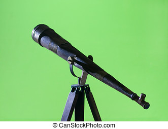 Antique Wood Telescope on a Tripod - Antique wood telescope...